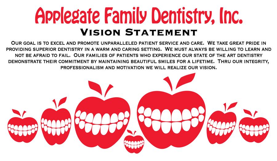 Vission Statement Home Www Applegatefamilydentist Com